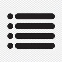 Opsommingsteken met lijst met lijstjes vector