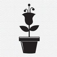 Bloempot pictogram