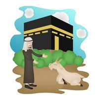 eid mubarak karakter illustratie
