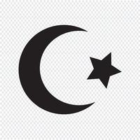 Symbool van de islam Ster halve maan pictogram