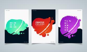 Abstracte zeshoekige kleurrijke vloeiende geometrische vorm banners brochure. illustratie vector eps10