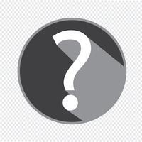 Vraagteken teken pictogram