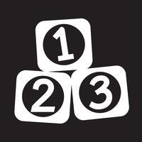 123 Blokken pictogram