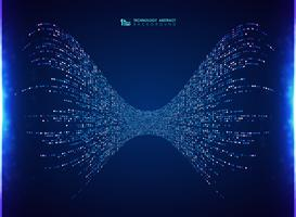 Abstracte van de het ontwerpenergie van het technologie vierkante patroon blauwe de decoratieachtergrond. U kunt gebruiken voor big data-analyse systeem, advertentie, poster, artwork, print. vector