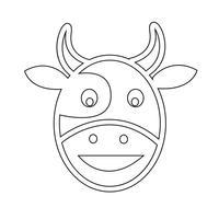 Koe hoofd pictogram vector