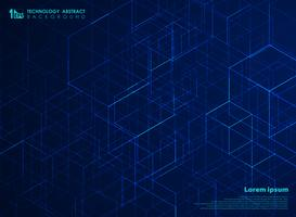 Abstracte technologie vierkante energie kubus patroon achtergrond. U kunt gebruiken voor futuristisch ontwerp van technische kunst, advertentie, poster, print, omslagontwerp, jaarverslag.