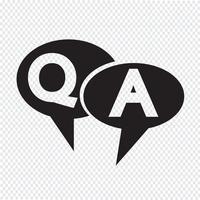 QA-symbool, pictogram Vraag antwoord vector