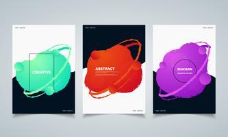 Abstracte cirkel kleurrijke vloeiende geometrische vorm banners brochure. illustratie vector eps10