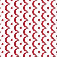 Patroon achtergrond Symbool van de islam Ster halve maan pictogram