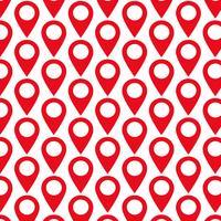 Patroonachtergrond GPS-locatie Kaartaanwijzerpictogram