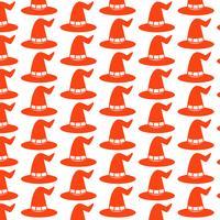 Patroon achtergrond halloween heks hoed pictogram