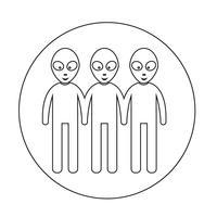 Buitenaardse pictogram symbool teken vector