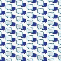 Patroon achtergrond praten bubble chat-pictogram