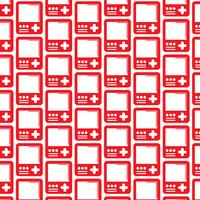 Patroonachtergrond Handbediend spelconsolepictogram