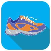 Sportschoen blauwe vector pictogram