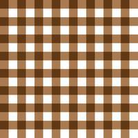 Donker bruin en lichtbruin geruite stof patroon vector
