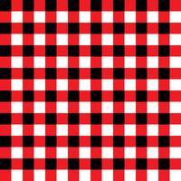 Rode en zwarte geruite stof patroon vector