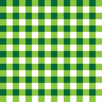 Donkergroen en lichtgroen geruite stoffenpatroon vector
