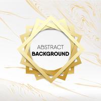 Decoratief gouden kader op gouden marmeren vectorillustratie als achtergrond