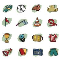 abstracte voetbal pictogram