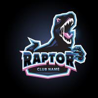 Raptor embleem logo vector