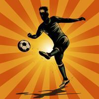 abstracte voetbal halve volley vector