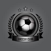 retro voetbal emblemen