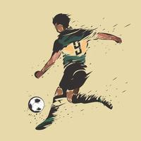 voetbal schieten inkt splash