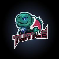 schildpad esport logo vector