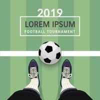 voetbaltoernooi poster vector