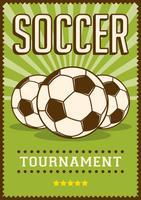 Voetbalsport Sport Retro Pop Art Posterborden vector