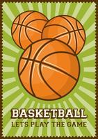 Basketbal Voetbal Sport Retro Pop Art Posters Bewegwijzering vector