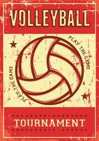 Volleybal Volleybal Sport Retro Pop Art Posterborden vector