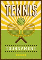 Tennissport retro popart postersignage vector
