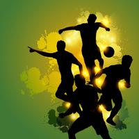 voetbal teamwork viering vector