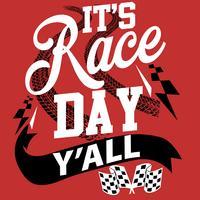 Het is Race Day Yall vector