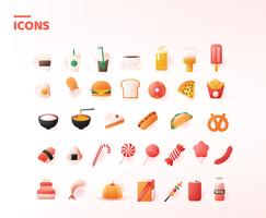 Voedsel iconen Vector Pack