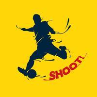 voetbal schieten splash vector