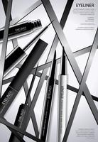 Cosmetische Eyeliner met verpakking Poster ontwerp vectorillustratie