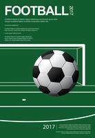 Voetbal Voetbal Poster Vestor Illustratie
