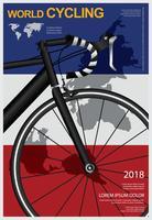 Fietsen Poster ontwerpsjabloon vectorillustratie vector