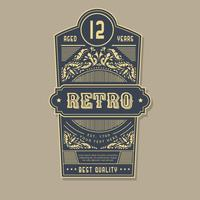 Retro label vector collectie
