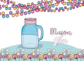 Mason jar partij tekening
