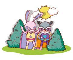 Superheld dieren cartoons