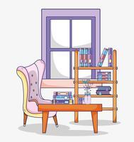 Studeerkamer interieur