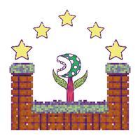 Pixelated videogameachtergrond