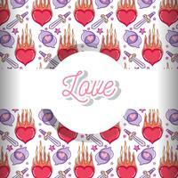 Liefde en harten patroon achtergrond