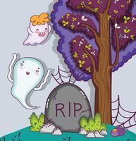 Leuke cartoons van Halloween vector