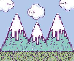 Pixelated videogameachtergrond vector