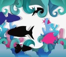 Papieren kunst onderzees